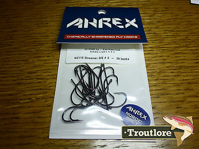 18 x AHREX NS110 #4 NORDIC SALT STREAMER HOOKS NEW FLY TYING MATERIALS