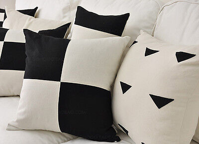 New 100% Cotton Black & White Cushion Cover/Pillow Case