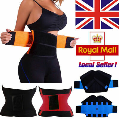 Slimming Body Shaper Tummy Girdle Belt Waist Trainer Cincher Sport Corset Wrap @