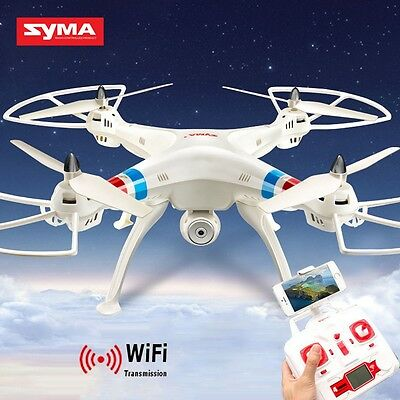Syma X8W Explorers Drone WiFi FPV RC Quadcopter 4CH with 2MP Camera RTF White UK