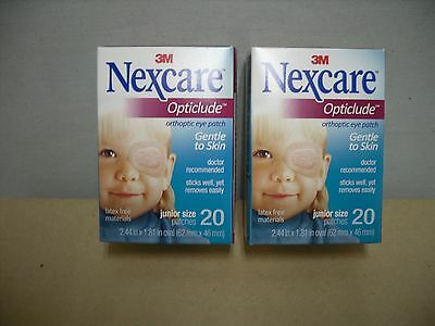 3M Nexcare Opticlude Orthoptic Eyepatch - Junior -1537, 62 mm x 46 mm 40 Patches