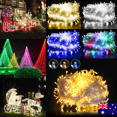 100/200/300/400/500 LED Indoor Outdoor String Fairy Party Lights Clear Cable AU
