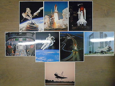 8 SPACE SHUTTLE COLLECTION POSTCARDS by NASA * UK POST £3.25 *