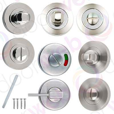 TURN & RELEASE Bathroom Locks Door Thumb Twist Sets Latch Catch Toilet Privacy