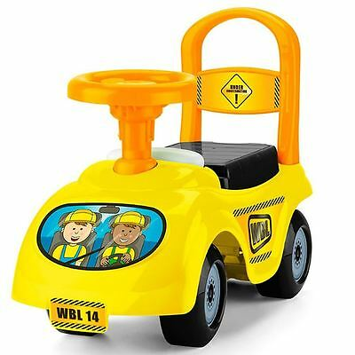 Toyrific Children Kids Yellow Construction Truck Steerable Ride-on Car Toy
