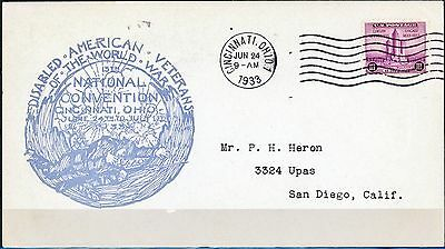 Disabled Americn Veterns of the World War National Convention June 24 1933 Cover