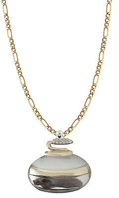 "Silver & Gold Curling Rock with 19"" Necklace"