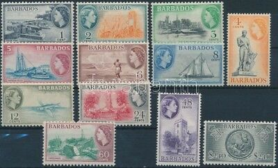 Barbados stamp 12 definitive values 1953 Hinged Mi 203-213,215 WS210025