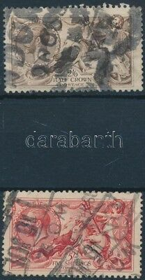Great Britain stamp Definitive 1918 Used Mi 141-142 III WS210321