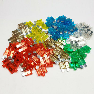100 Piece Standard Glow Blow Blade Fuse Assorted Kit Mixed Smart Car Van