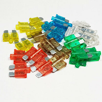 30 Piece Standard Glow Blow Blade Fuse Assorted Kit Mixed Smart Car Van