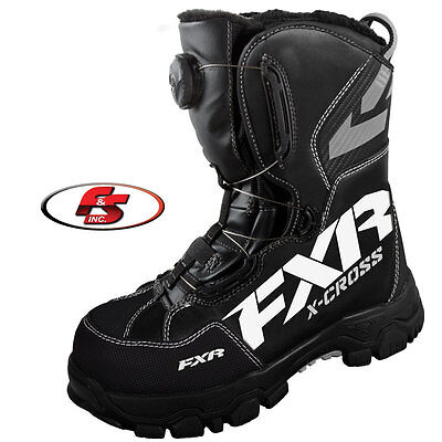 2017 FXR X Cross BOA Boot Black 4 5 6 8 Snowmobile Motorcycle Boots Mens Womens