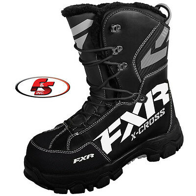 2017 FXR X Cross Boot Black Size 10 Snowmobile Motorcycle Boots