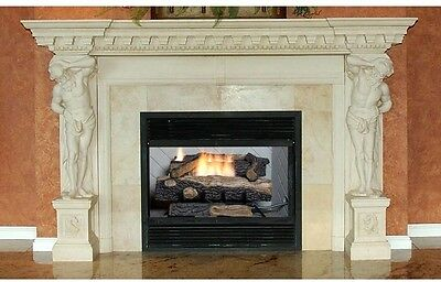 Oakwood Vent-Free Propane Gas Fireplace Logs With Thermostatic Control 24 In.