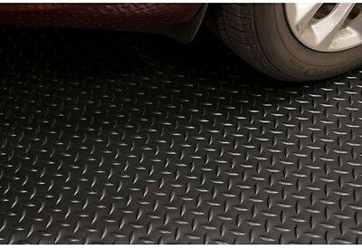 7.5'X14' Diamond Black Universal Flooring Protector Mat Garage Warehouse
