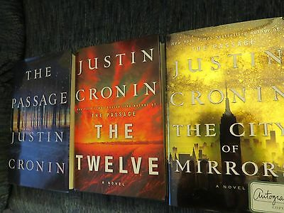 The Passage Trilogy Signed All Three Books By Justin Cronin 1St/1St Hc  Wow!!!!!