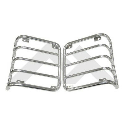 Tail Lamp Guards Stainless Fits: Jeep Wrangler JK 07-2016 Rough Trail RT34080