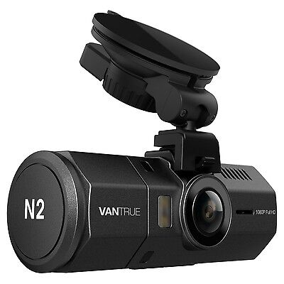 Vantrue N2 Dual Dash Cam - 1080P FHD +HDR Front and Back Wide An... New Free P&P