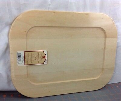 "New Walnut Hallow Craft Wood Solid Basswood Pine 12"" x 16"" Rectangle Tray 3576"