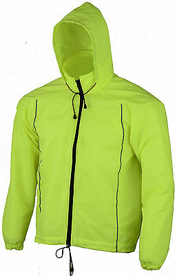 Horse Riding Waterproof Hooded Jacket Cycling Raincoat Reflective