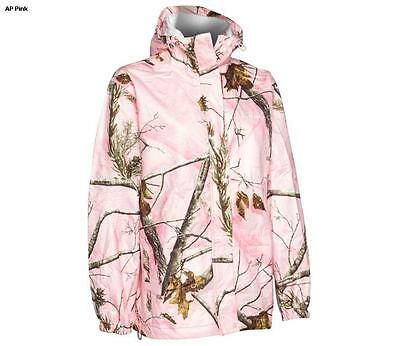87790987a0344 Realtree Storm Seeker Pink Camo Zip Up Hoodie Rain Jacket Size Sm/Med or L