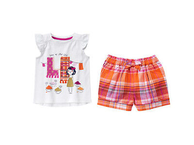 NWT Gymboree SPICE MARKET Sz 2T 3T 4T 5T Spice Up Your Life Tee & Plaid Shorts