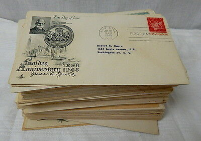 Lot Of Over 160 First Day Issue U.S. Post Office Stamps & Envelopes 1948