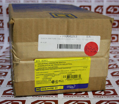 Square D 9012 GCW-3 Pressure Switch Class 9012 - New Surplus Sealed
