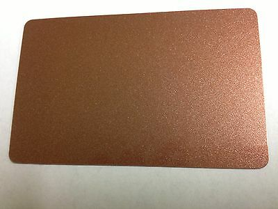 500 Blank PVC Plastic Photo ID Copper Credit Card CR80 30Mil