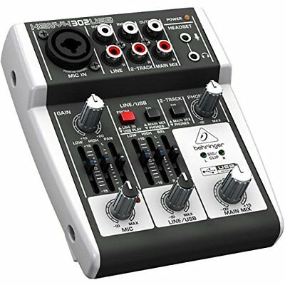 BEHRINGER XENYX 302USB 5-Input mixer USB/Audio Interface New From Japan F/S