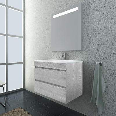 Vellena 600Mm Bathroom Wall Hung Vanity Ceramic Basin Wash White