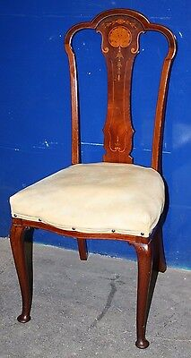 ~Stunning ~Antique ~Delicate ~Inlaid ~Mahogany ~ Chair ~Bedroom Chair~ VGC~