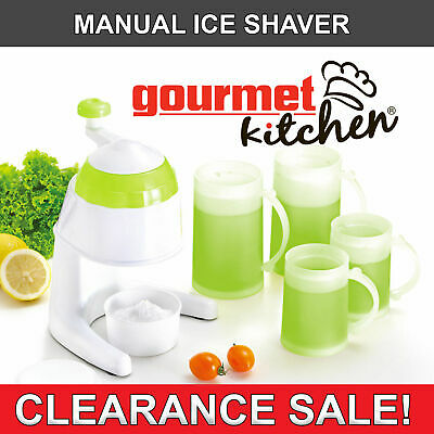 Manual Ice Shaver Maker Cups Snow Cone Set Kitchen Tool Summer Party Icey
