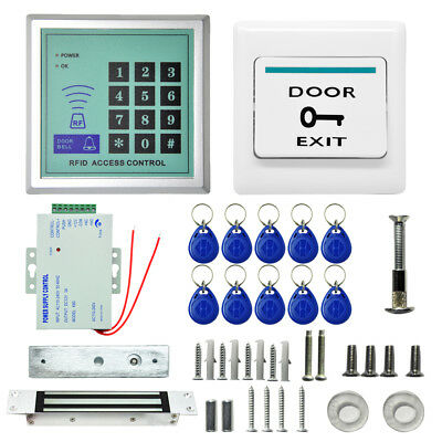 400LBs Kit Access Control Electric Door Lock Magnetic ID Card Password System US