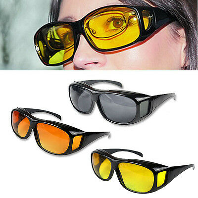 Optic Night Vision Driving Anti Glare HD Glasses UV Wind Protection Eyeglasses