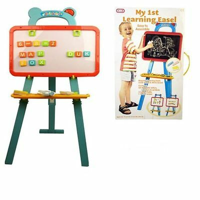 A to Z LEARNING EASEL CHALK BOARD WHITE BOARD WITH MAGNETIC LETTERS