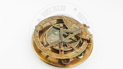 """New Vintage Maritime Antique Nautical Brass  Sundial 8"""" Collectabl Free Postage"""