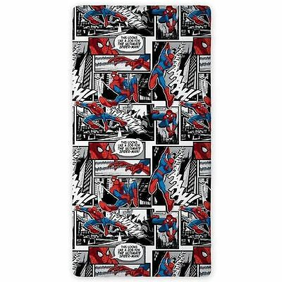 Spiderman Comic Strip Single Fitted Sheet - 100% Cotton New Kids Beddng Official