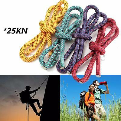 25KN 58/77'' (10.5mm) 100% Nylon Outdoor Sports Climbing Rope 15 Strand Rope CUT