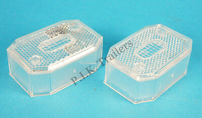 2 X Aspock Flexipoint Clear Front Marker LENS Ifor Williams Brian James Trailer