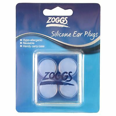Zoggs Hypo-Allergenic Silicone Swimming Ear Plugs Ear Putty Pack of 4 Carry Case