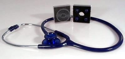 Stethoscope - Navy Blue with Matching Bling Chest-piece - Deluxe Lite