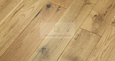 125mm X 14mm Engineered Oak Flooring Wide Natural Light Wood Lacquered