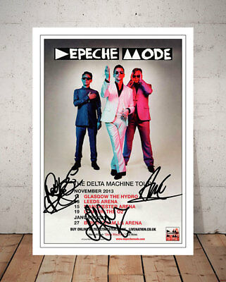 Depeche Mode The Delta Machine 2013 Concert Flyer Autographed Signed Photo Print