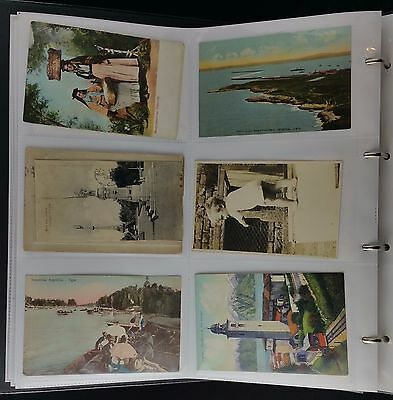 Modern Album of 310 Early Postcards , Actors, Bournemouth & Argentina Interest
