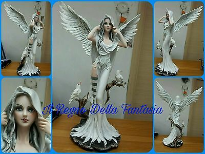 Angelo Bianco White Angel Engel Fairy Fees Elfen Fata Con Colombe No Les Alpes