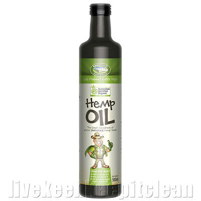 Hemp Foods Australia - Certified Organic Hemp Seed Oil - 500ml