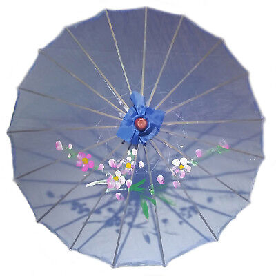 Blue Transparent Chinese Parasol 22in 160-3 S-2177