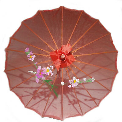 Red Transparent Chinese Parasol 22in 160-4 S-2181