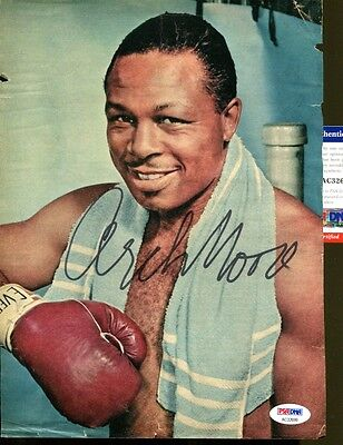 Archie Moore Signed Magazine Page 8x11 Autographed Boxing Champ PSA/DNA AC32699
